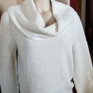 Cream cowl neck sweater